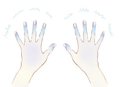 冷えた手と指先 青い末端冷え性