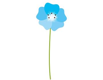 青い花のベクターイラスト ネモフィラ