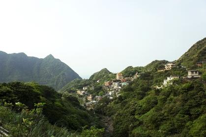 黄金博物館から望む金瓜石の街並み 台湾