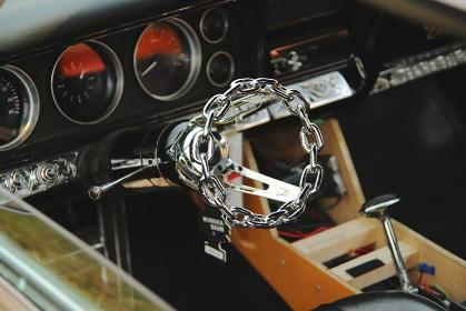 アメリカのビンテージカーの内装