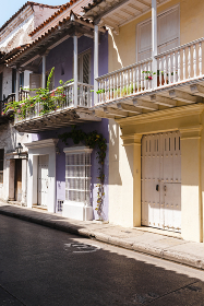 Colorful back streets with amazing architecture and character