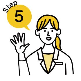 医師 医者 女性 ポップ ステップ 5
