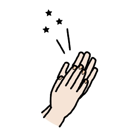 拍手をする手のイラスト