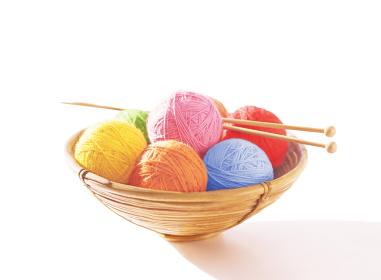 毛糸玉と編み棒