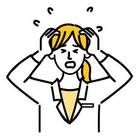 医師 医者 女性 ポップ 焦っている 医療 表情