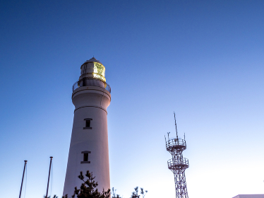 犬吠埼灯台の夜明け (千葉県銚子市)