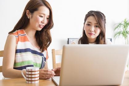 PCを操作する女性たち