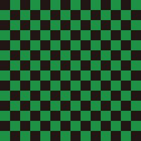 市松模様 黒×緑 M