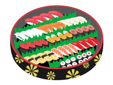 出前寿司のイラスト