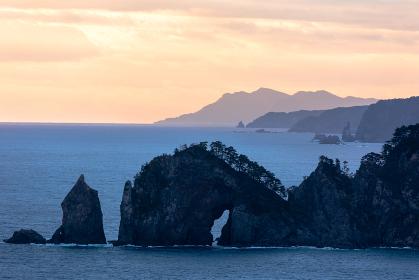 日本・岩手の三陸、北山崎