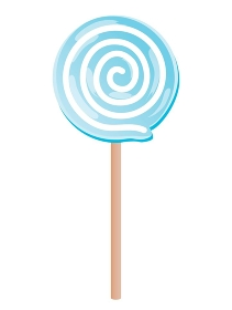 青いうずまきのペロペロキャンディー
