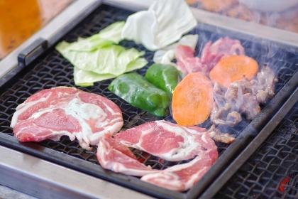 バーベキュー お肉と野菜