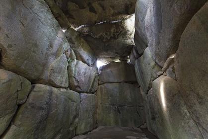 石舞台古墳の内部