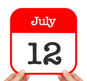 July 12 written on a calendar