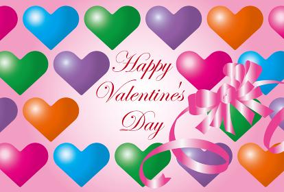 ハートのバレンタインカード