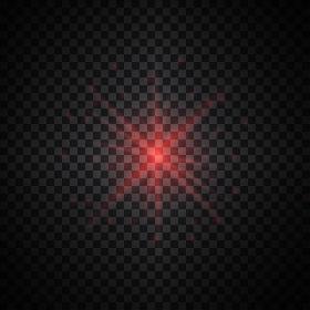 Red vector glow light effect.