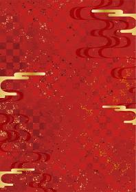 和風背景素材 市松模様 地紋 柄 豪華