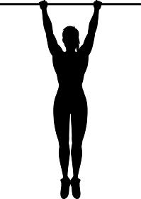 懸垂する女性