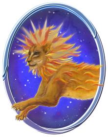 西洋占星術の獅子座のイラスト