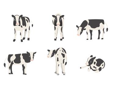 子牛 ホルスタイン 向きバリエーションセット