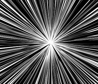 迫力のある集中線のイメージ素材