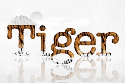 干支 寅 Tigerの文字