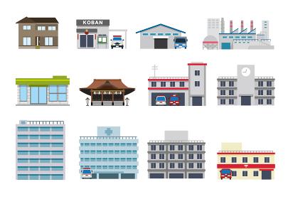 街並み 店舗 公共施設 セット