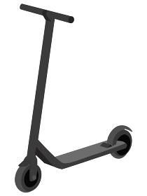 イラスト素材 キックボード キックスケーター アイコン ベクター