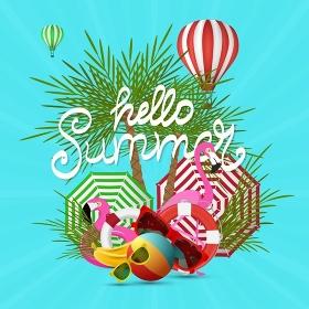Summer Holiday typographic illustration