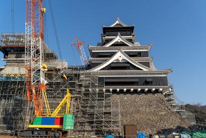 復旧・復元工事中の熊本城(2019年12月撮影)