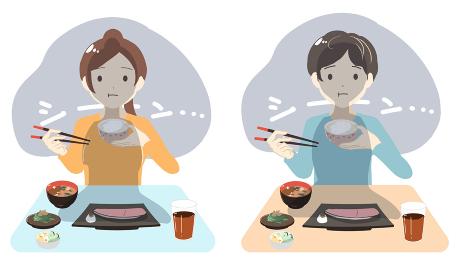 1人でご飯を食べる(線無し)