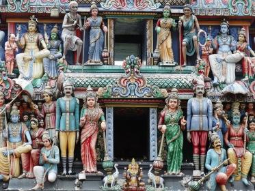 スリマリアマン寺院の彫刻、シンガポール