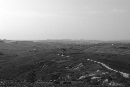 イタリア、トスカーナ地方の丘陵