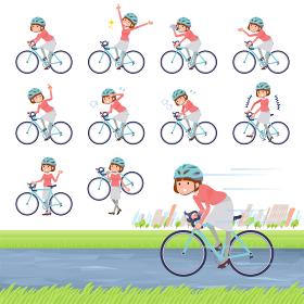 flat type Straight bangs women_road-bike