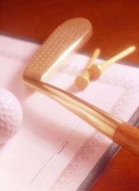 ゴルフクラブと署名欄