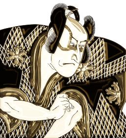 浮世絵 歌舞伎役者 その10 金バージョン