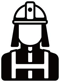労働者アイコンイラスト / 消防士・消防署員
