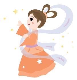 七夕祭りの織姫のイラスト
