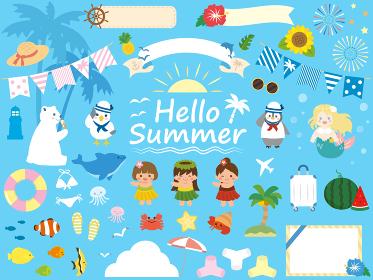 かわいい夏のイラスト素材集