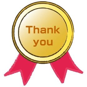 ゴールドメダル Thank you