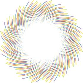 カラフルな曲線の渦巻きサークル