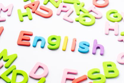 English アルファベット 白背景