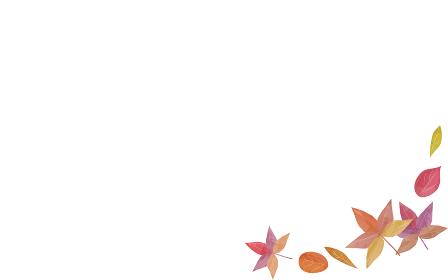 紅葉したモミジと葉っぱのイラスト.ベクターイラスト