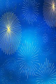 綺麗な花火と背景 水彩 花火大会 壁紙 イラスト素材