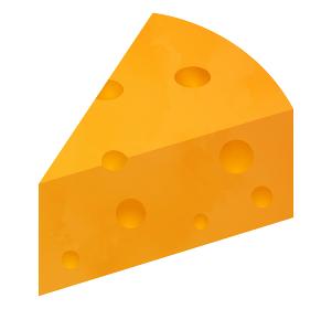 穴あき チーズ イラスト