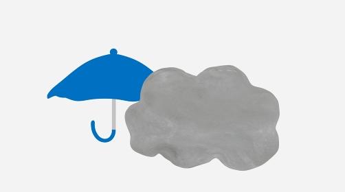 雨のち曇りの天気イメージ素材