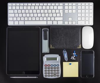 Blank Corporate ID Set on black background