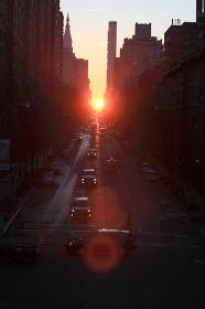 マンハッタン 23番通り 夜明け ニューヨーク