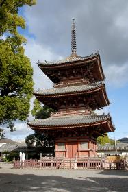 斑鳩寺 三重塔 兵庫県太子町