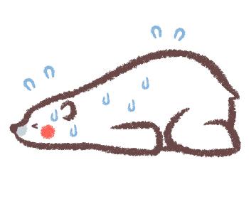 熱中症のシロクマ